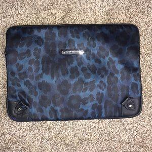 JUICY COUTURE blue leopard laptop bag!!